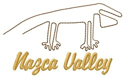 Nazca Lines Valley embroidery design