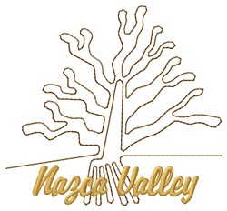 Nazca Lines Valley Tree embroidery design