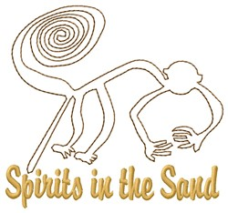Nazca Lines Monkey Spirits embroidery design