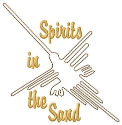 Nazca Lines Bird Spirits embroidery design
