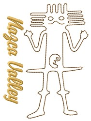 Nazca Lines Valley Astronaut embroidery design