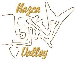 Ballena Nazca Lines embroidery design