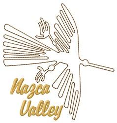 Nazca Valley Lines Condor embroidery design