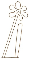 Flower Nazca Lines embroidery design