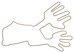 Nazca Lines Hands embroidery design