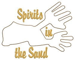 Spirit Hands Nazca Lines embroidery design
