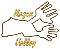 Nazca Lines Valley Hand embroidery design