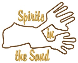 Nazca Lines Spirits embroidery design