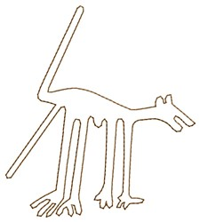 Nazca Lines Dog embroidery design