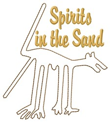 Nazca Lines Dog Spirit embroidery design