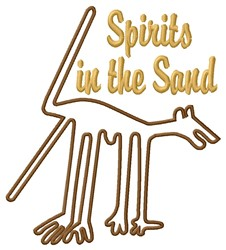 Nazca Lines Spirits In Sand embroidery design