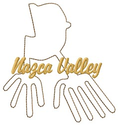 Wing Nazca Lines embroidery design