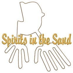 Nazca Lines Spirit Wings embroidery design