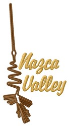 Nazca Valley Heron Lines embroidery design