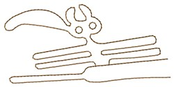Nazca Lines Parrot embroidery design