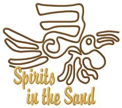 Nazca Lines Parrot Spirit embroidery design