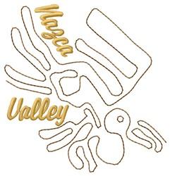 Nazca Valley Lines Pelican embroidery design