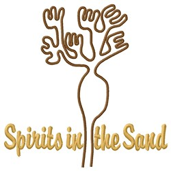Nazca Lines Spirit Plant embroidery design