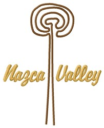 Nazca Valley Lines Spiral embroidery design