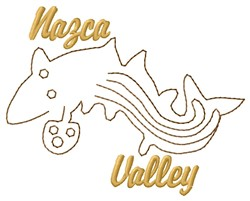 Nazca Lines Valley Whale embroidery design