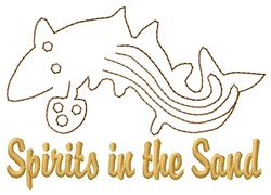 Nazca Lines Whale Spirit embroidery design