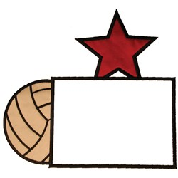 Volleyball Frame embroidery design