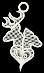 Deer Heart Ornament embroidery design