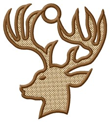 Deer Head Ornament embroidery design