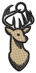 Deer Head Ornament embroidery design