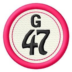 Bingo G47 embroidery design