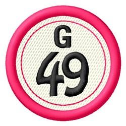 Bingo G49 embroidery design