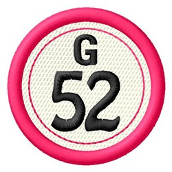 Bingo G52 embroidery design