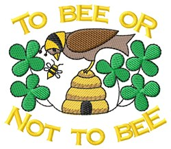 Let It Bee embroidery design