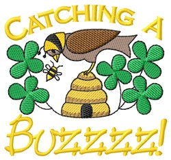 Buzz Off Busy Bee! embroidery design