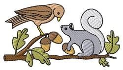 Bird/Squirrel embroidery design
