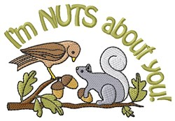 Squirrel And Acorn embroidery design