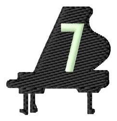 Grand Piano 7 embroidery design