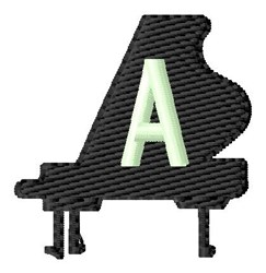 Grand Piano A embroidery design