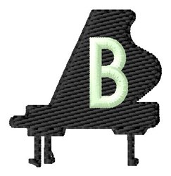 Grand Piano B embroidery design