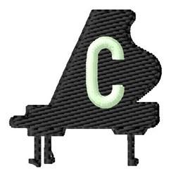 Grand Piano C embroidery design
