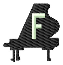 Grand Piano F embroidery design