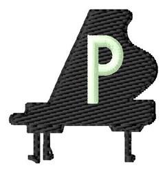 Grand Piano P embroidery design