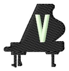Grand Piano V embroidery design
