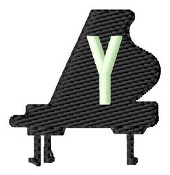 Grand Piano Y embroidery design