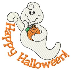 Happy Halloween Ghost! embroidery design