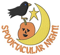 Spooktacular Night! embroidery design