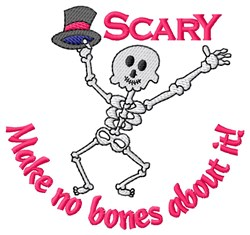 Halloween Skeleton embroidery design