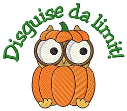 Owl Disguise Halloween embroidery design