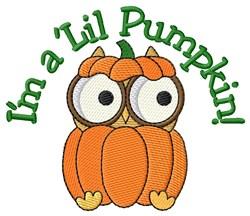 Spooky Little Pumpkin! embroidery design