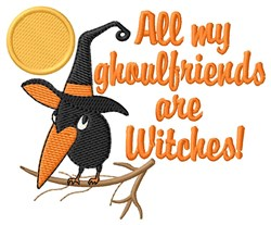 Witchy Ghoulfriends embroidery design